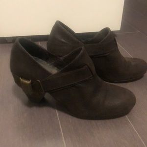 Zara booties with metal accents